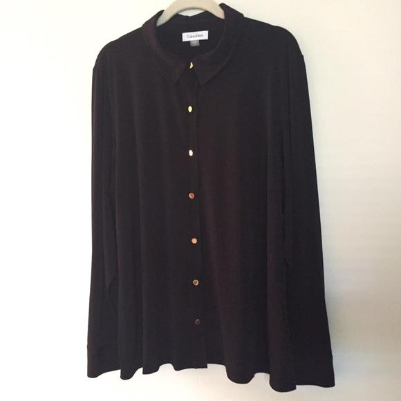 Calvin Klein Tops - Matte jersey blouse